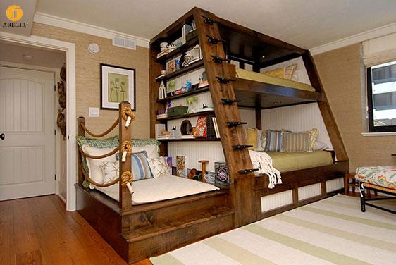 ایده هایی برای طراحی تخت خواب دو طبقه