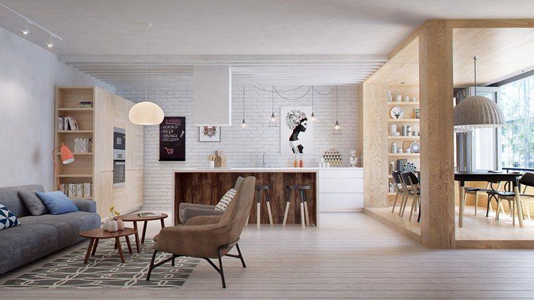 دکوراسیون داخلی آپارتمانی به سبک التقاطی