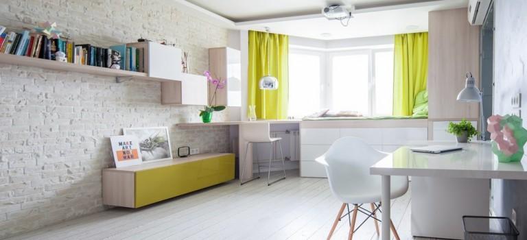 دکوراسیون داخلی آپارتمانی به مساحت تنها ۴۲ مترمربع
