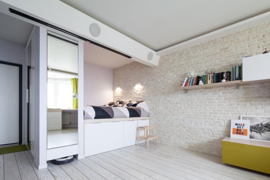 دکوراسیون داخلی آپارتمانی به مساحت تنها 42 مترمربع