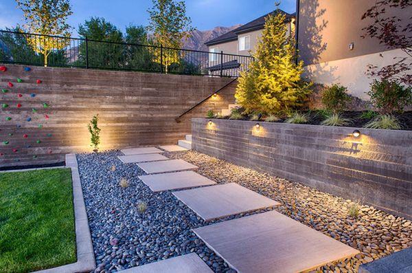 استفاده از سنگ برای محوطه سازی حیاط و باغ