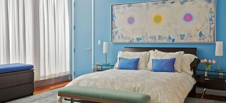 ایده هایی برای استفاده از تابلوی نقاشی در دکوراسیون داخلی اتاق خواب