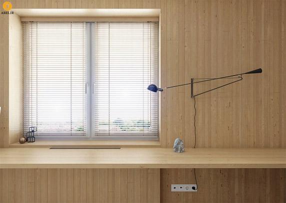 دکوراسیون داخلی دو آپارتمان با استفاده از پانل های چوبی