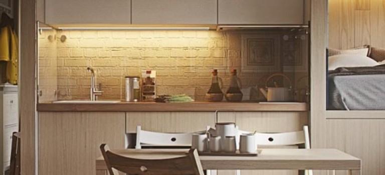 طراحی داخلی ۴ آپارتمان با مساحت زیر ۴۰ مترمربع
