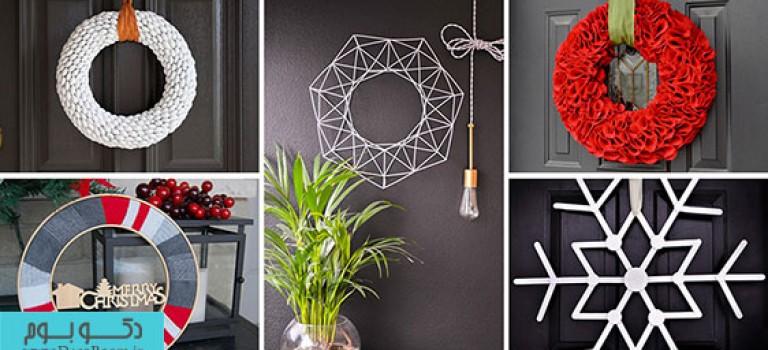 ایده های ساده کاردستی برای طراحی حلقه گل کریسمس