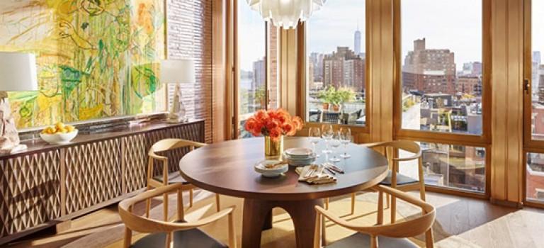 ترکیب چوب و رنگ کرم، فضایی گرم و لوکس