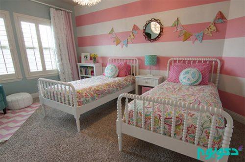 تخت خواب زیبا برای اتاق دوقلو ها