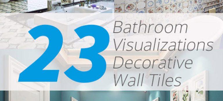 ۲۳ حمام زیبا با کاشی های تزئینی