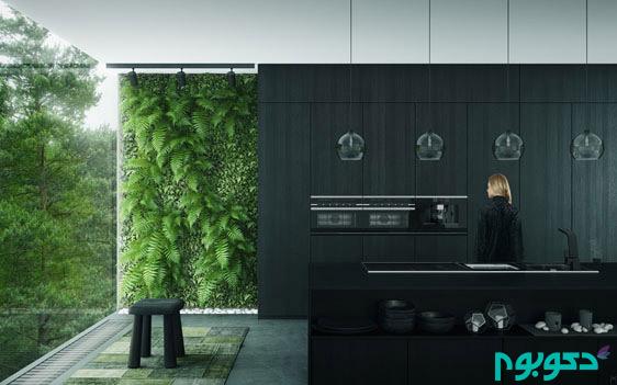 black-on-black-kitchen-with-vertical-garden