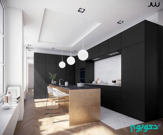 matte-black-and-copper-kitchen