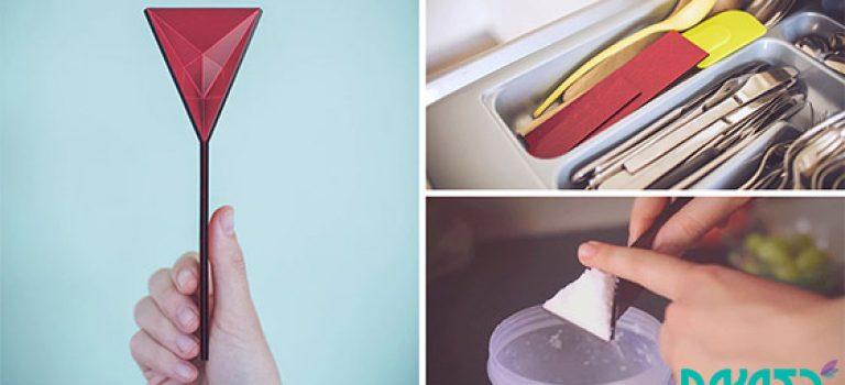 طراحی قاشقی جالب با هنر اریگامی