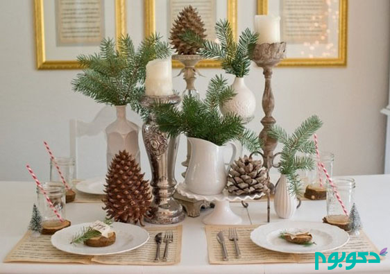 diy-christmas-decoration-natural-materials-fir-branches-candles-table-decoration-ideas