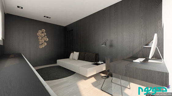 black-and-off-white-home-office-design