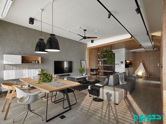 دکوراسیون آپارتمانی با فضایی خانوادگی و کاربردی