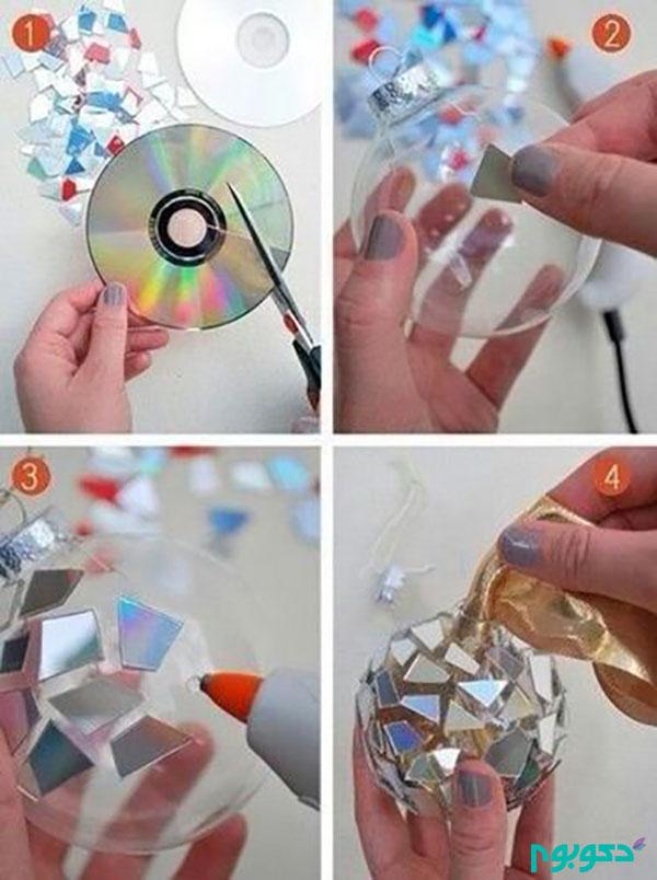تزئینات دست ساز و دکوری با  CD های غیرقابل استفاده