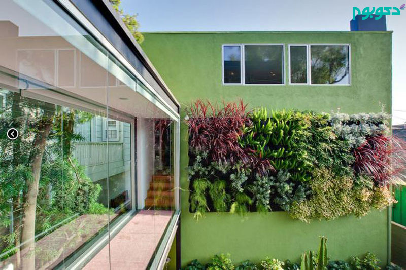 دیوار های سبز شگفت انگیز در طراحی محوطه