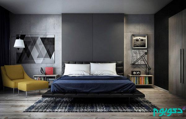 دکوراسیون اتاق خواب با بتن، متریال محبوب قرن 21 (قسمت اول)