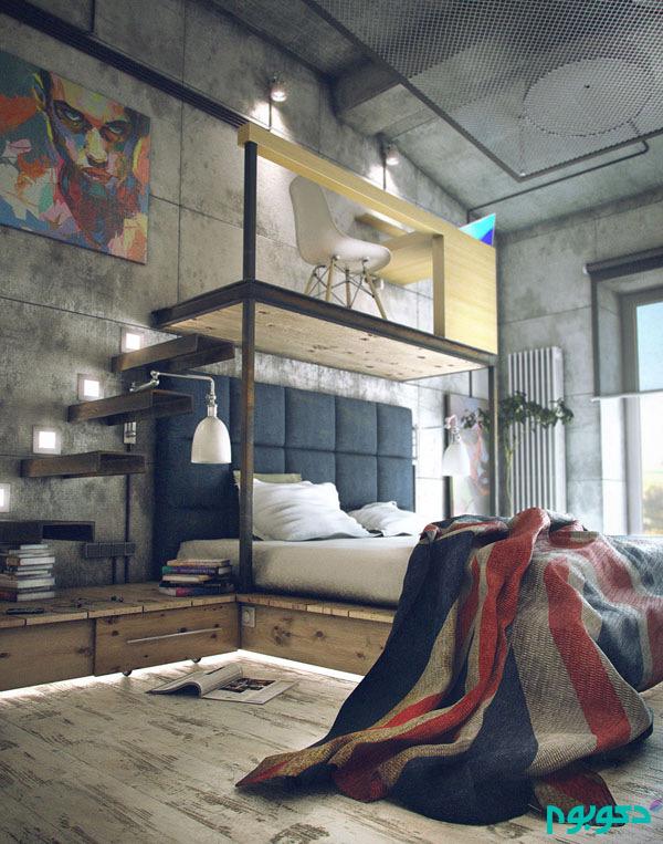 دکوراسیون اتاق خواب با بتن، متریال محبوب قرن 21 (قسمت دوم)