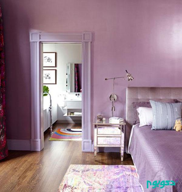 8 Homey Bedroom Ideas That Will Match Your Style: رنگ یاسی در دکوراسیون اتاق خواب