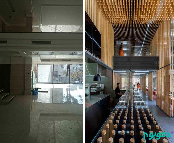 """طراحی داخلی رستوران """"چوجی"""" در خیابان سهروردی"""