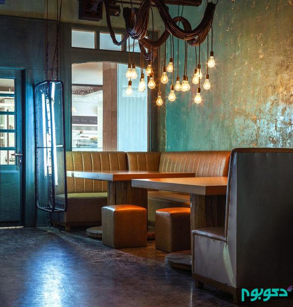 طراحی داخلی رستوران جو گریل فود در زعفرانیه
