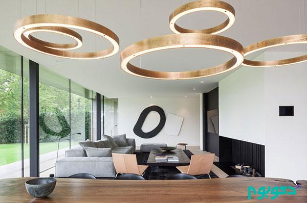 طراحی منحصر به فرد لامپ روشنایی برای دکوراسیون غذاخوری