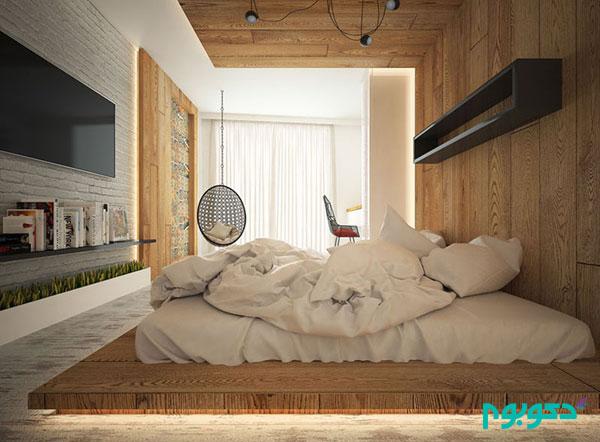 تخت خواب منحصربه فرد در دکوراسیون اتاق خواب