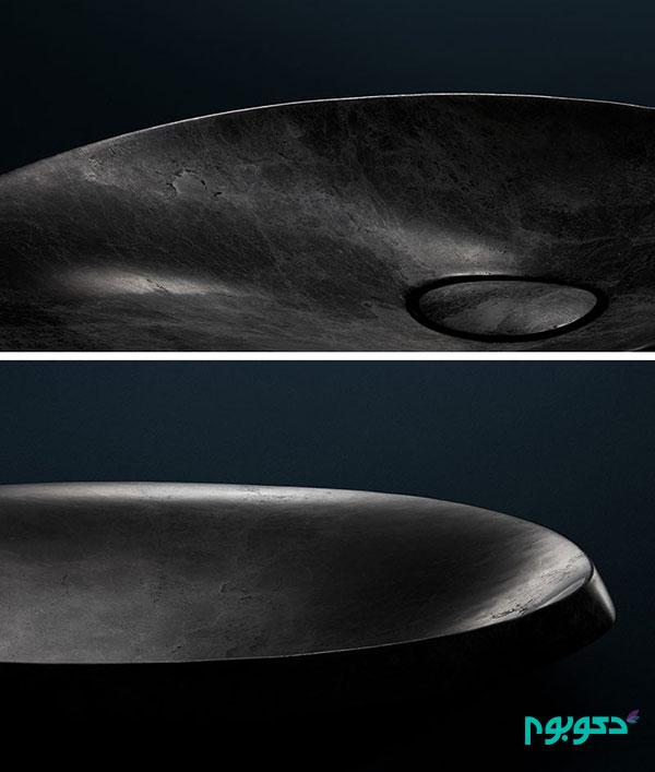 طراحی سینک زیبا با استفاده از سنگ طبیعی