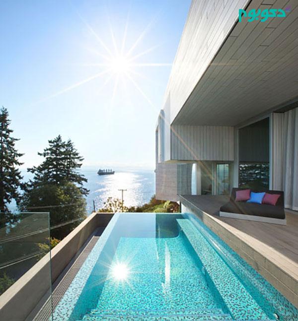 طراحی خانه ای با منظره شگفت انگیز اقیانوس در ونکوور