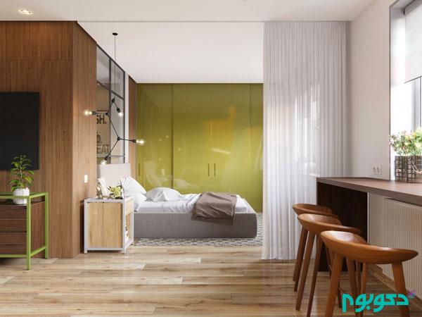 دکوراسیون داخلی آپارتمانی منحصربه فرد هم نوا با طبیعت