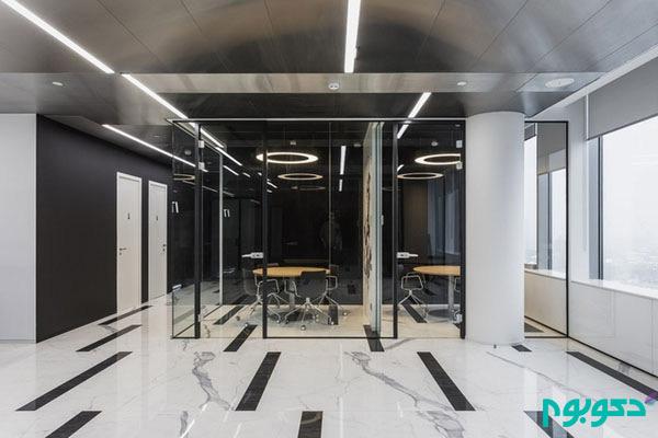 دکوراسیون داخلی دفتر مد و فشن Incanto در مسکو