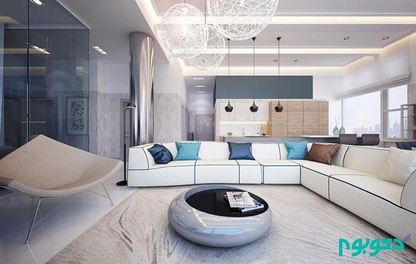 دکوراسیون داخلی آپارتمانی الهام بخش مشرف به رودخانه