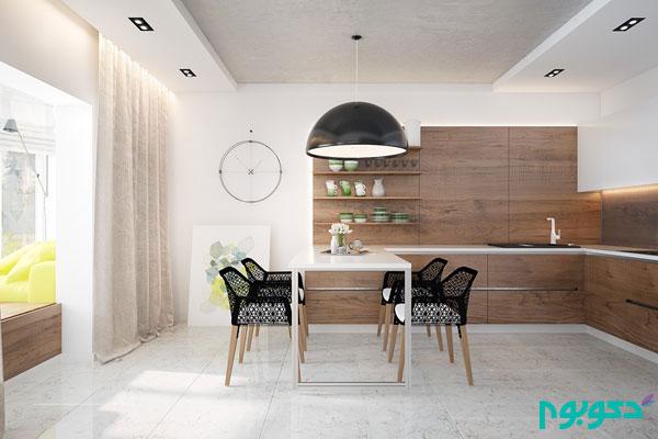 دکوراسیون داخلی آپارتمانی با رنگ های جسورانه