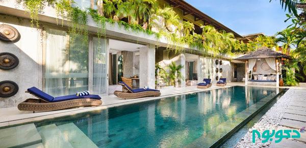 طراحی داخلی ویلا های گرمسیری جزایر اندونزی