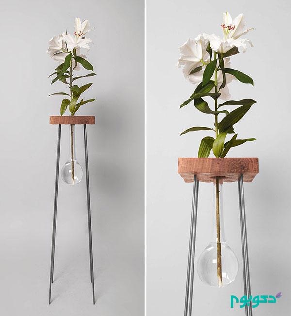 گلدانی با طراحی خلاقانه و زیبا