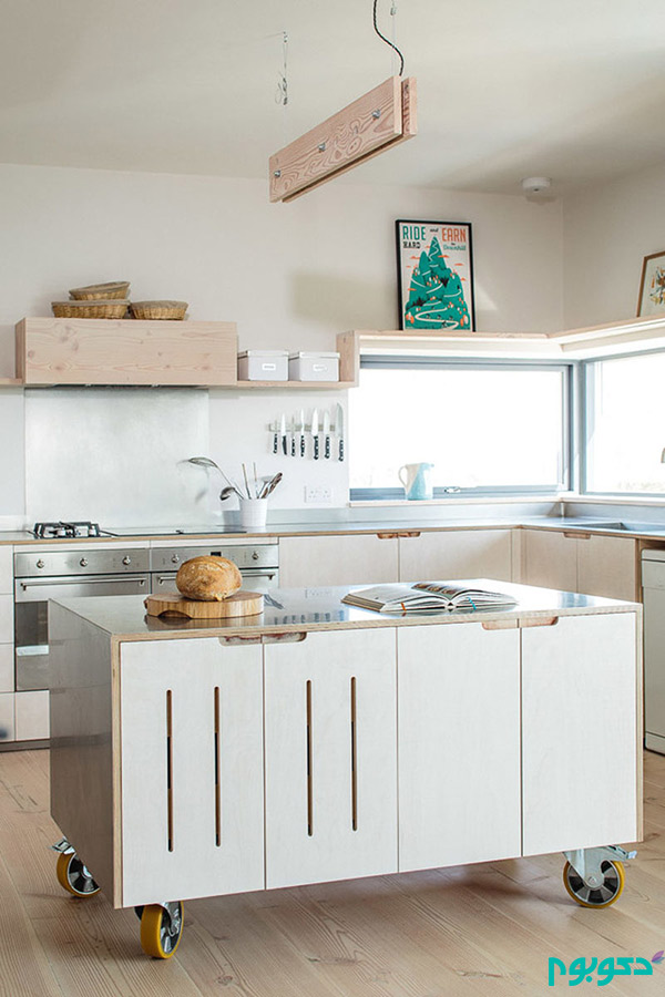 جزیره های متحرک در دکوراسیون داخلی آشپزخانه