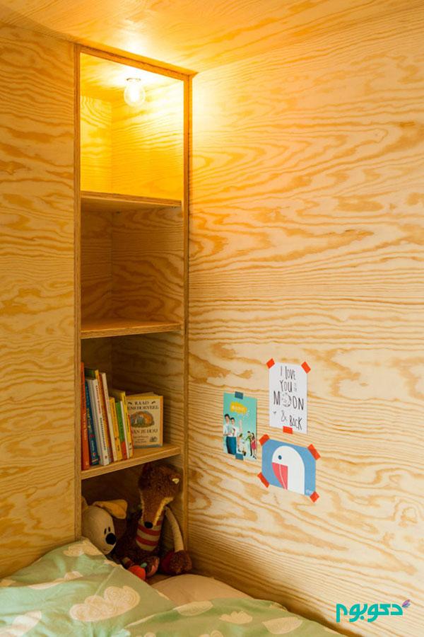 طراحی تخت خواب اتاق کودک با تلفیق فضای بازی