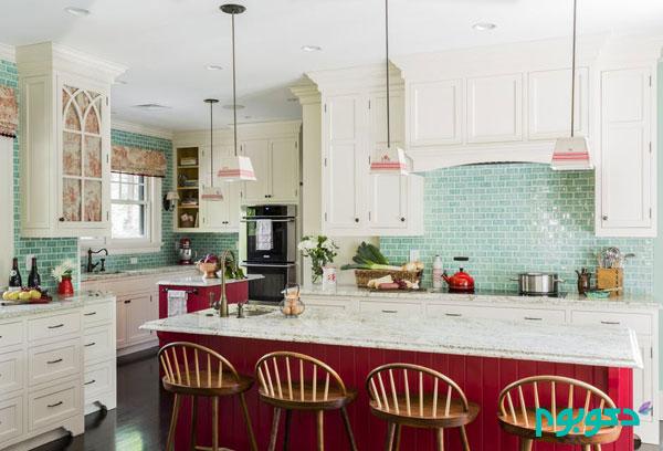 30 نمونه کاشیکاری منحصر به فرد در دیوار آشپزخانه