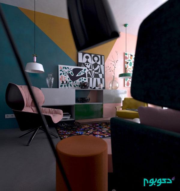 دکوراسیون آپارتمانی جذاب با حال و هوای بهاری-قسمت دوم