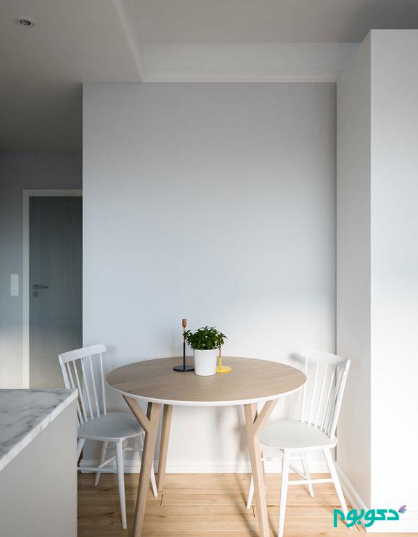 دیوارهای شیشه ای در آپارتمان های کوچک