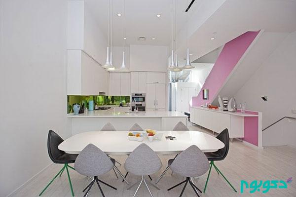 رنگ های شاد در دکوراسیون خانه ای به سبک معاصر