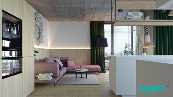دکوراسیون داخلی آپارتمانی خلاقانه و دارای سبک