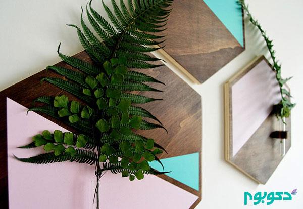ظرافت و احساس هنری در گلدان های دیواری