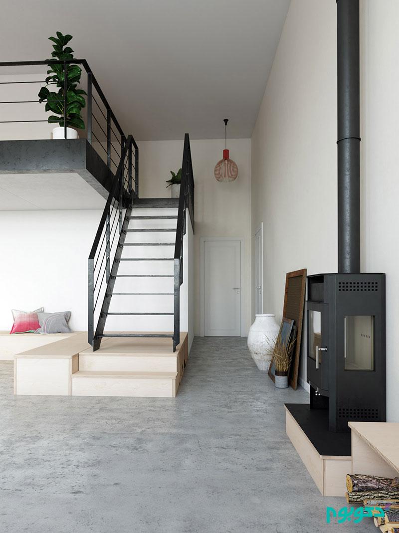 استفاده بهینه از فضا در آپارتمانی اسکاندیناوی