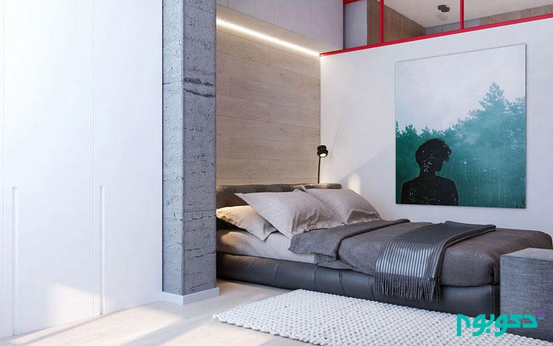 طراحی داخلی جسورانه آپارتمان 52 متری !