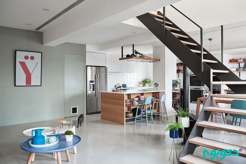 طراحی داخلی خانه ای مدرن و سفارشی