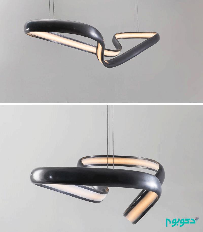 آویزهای روشنایی، پر پیچ و تاپ و متفاوت