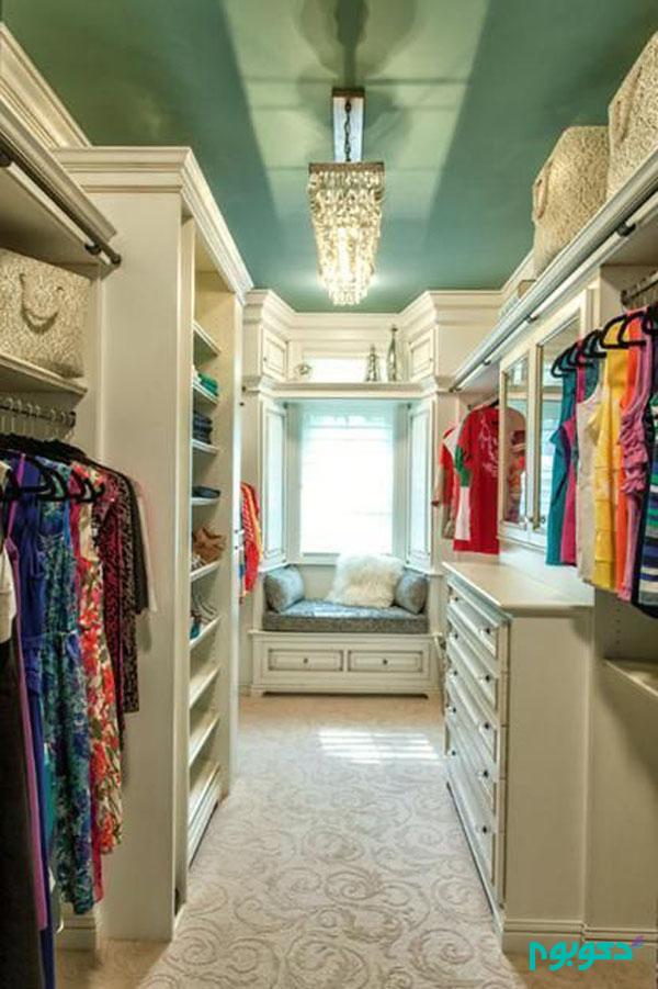 طراحی اتاق لباس و کمد های دیواری در منزل دکوراسیون داخلی