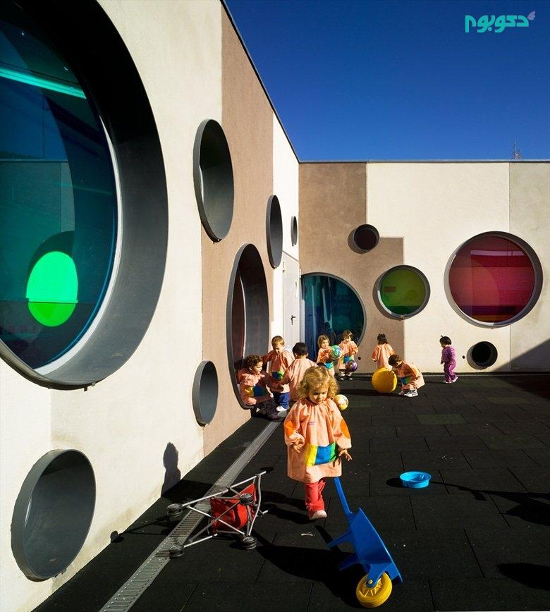 طراحی داخلی کودکانه و جذاب مهدکودک برای کودکان زیر ۳ سال