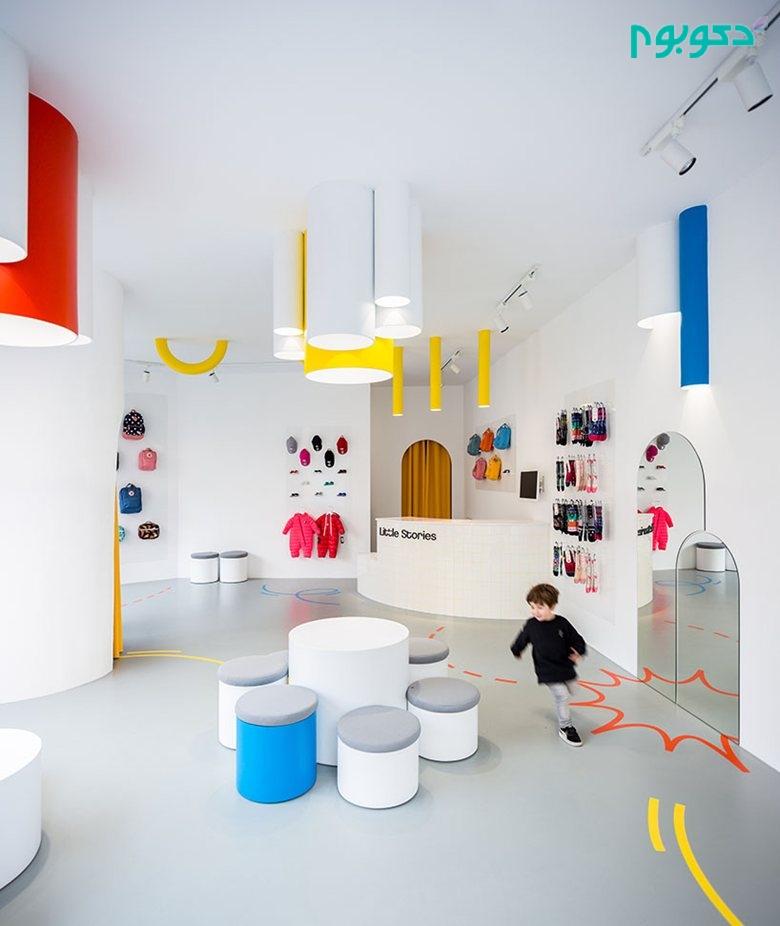 طراحی داخلی کفش فروشی برای تقویت قوه تخیل در کودکان